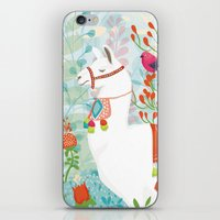llama iPhone & iPod Skins featuring Llama by The Wildest Little Things