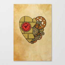 Steampunk Clockwork Heart Canvas Print