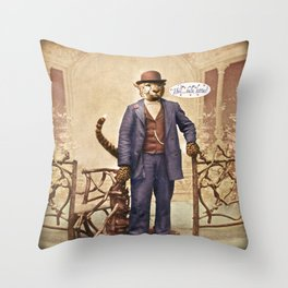 """One Cool Cat: """"Well . . . Hello, kitties!"""" Throw Pillow"""