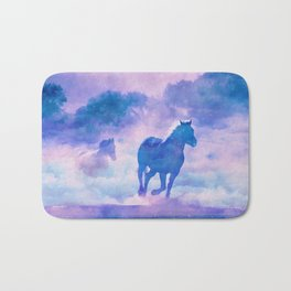Horses run Bath Mat