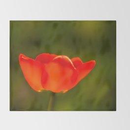 La tulipe orange Throw Blanket