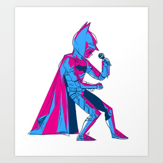 The Dark Knight Rocks Art Print