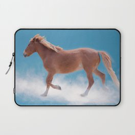 Walking on clouds over the blue sky - version #2 - #society6 #buyart Laptop Sleeve