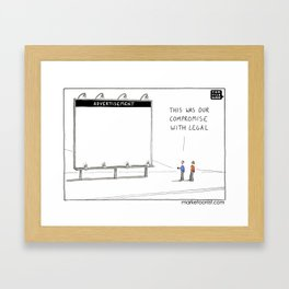 Compromise with Legal Framed Art Print