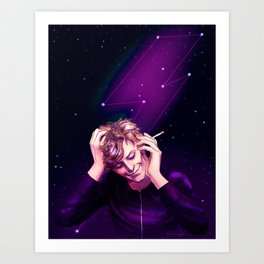 Bowie Amongst the Stars Art Print
