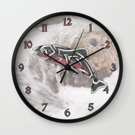 Celtic Knot Salmon Wall Clock