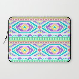 Aztec Geometric Print - Pastel bright colours Laptop Sleeve