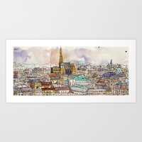 vienna Art Prints featuring Vienna by Eurekawanders