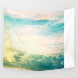 Pastel Abstract Sky  Wall Tapestry