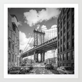 NEW YORK CITY Manhattan Bridge | Monochrome Art Print