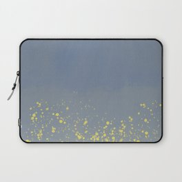 Abstract speckled background - grey and yellow Laptop Sleeve