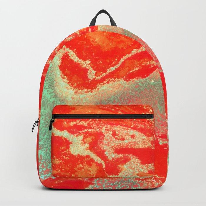 Sea Green + Coral #society6 #decor #buyart Backpack