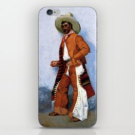 "Frederic Remington Western Art ""A Vaquero"" iPhone Skin"
