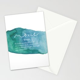 Moxie Definition - Blue Watercolor Stationery Cards