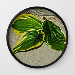 Gilded Leaves Wall Clock