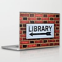 library Laptop & iPad Skins featuring Library by Biff Rendar