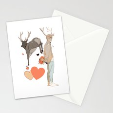 Cupid and Hearts Stationery Cards