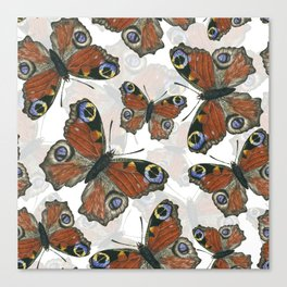 Peacock butterfly pattern Canvas Print