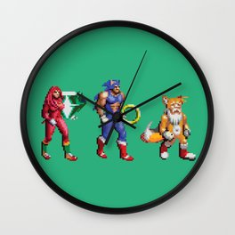 The Golden Hedgehog Wall Clock