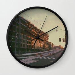 Sunlit D.C. Construction Wall Clock