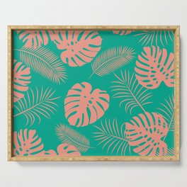 TROPICAL LEAVES 8 Serving Tray