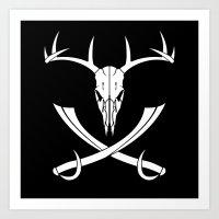 Buck-aroo Flag Art Print