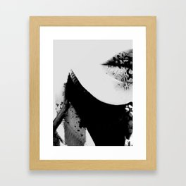 pois on mouth Framed Art Print