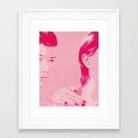 sisters Framed Art Prints featuring Sisters by Hands and Hustle
