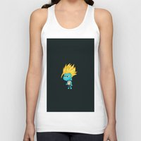 gumball Tank Tops featuring Black SSJ Gumball by Miles Cameron