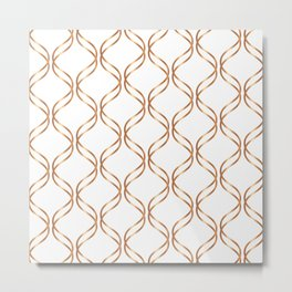 Double Helix - Rose Gold #676 Metal Print