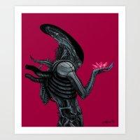 xenomorph Art Prints featuring Xenomorph by Sudjino