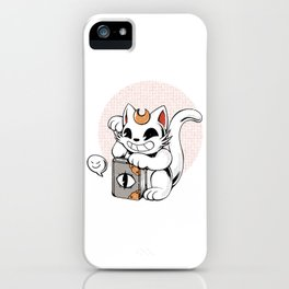 Witchy Lucky Cat iPhone Case