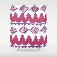 mexico Shower Curtains featuring Mexico by Hannah Martin