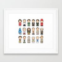 robin williams Framed Art Prints featuring Robin Williams  by Big Purple Glasses