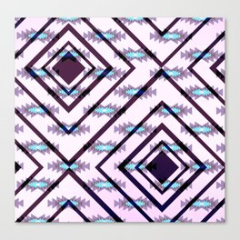 Ultraviolet ethnic pattern Canvas Print