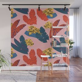 Leopards in the forest // Forest collection // Pattern design Wall Mural