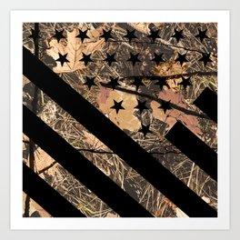 Hunting Camouflage Flag 3 Art Print