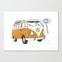 volkswagen Canvas Prints featuring Volkswagen by Valesca van Waveren