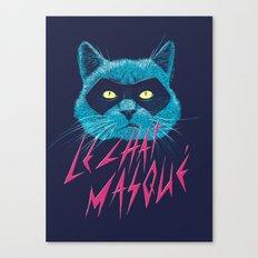 Le Chat Masqué Canvas Print