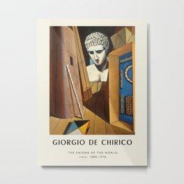 Poster-Giorgio de Chirico-The enigma of the world. Metal Print