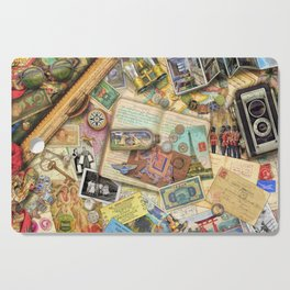 Vintage World Traveler Cutting Board