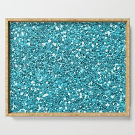 Light Blue Glitter 01 Serving Tray