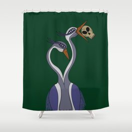 Portrait of the Heron Shower Curtain