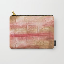 Red Pink stained watercolor texture Carry-All Pouch