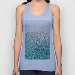 Silver Teal Ocean Glitter Glam #1 #shiny #decor #art #society6 Unisex Tank Top