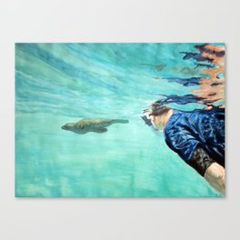 Sea Wolf and Friend Canvas Print