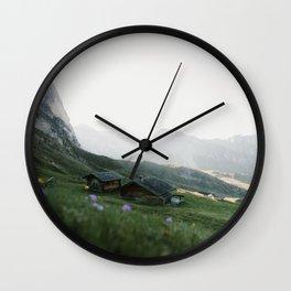 Italian mountain scenery Wall Clock