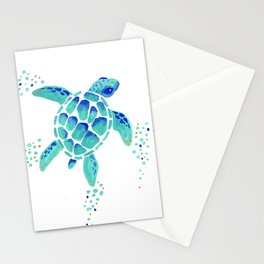 Neptune's Turtle Stationery Cards
