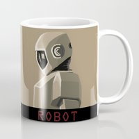 robot Mugs featuring Robot by Kidney Theft