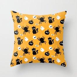 Cute Halloween Pattern Throw Pillow